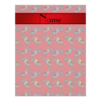 Personalized name red motorcycles 21.5 cm x 28 cm flyer