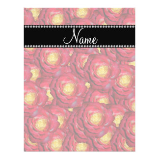 Personalized name red roses flyer