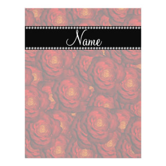 Personalized name red roses personalized flyer
