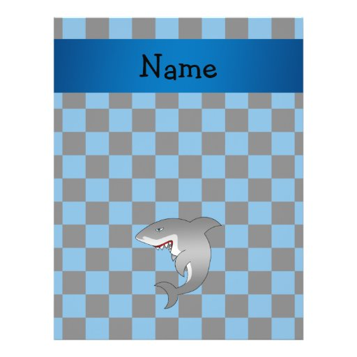 Personalized name shark flyer
