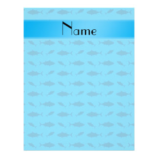 Personalized name sky blue bluefin tuna pattern flyers