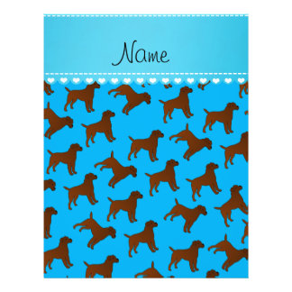 Personalized name sky blue border terrier dogs 21.5 cm x 28 cm flyer