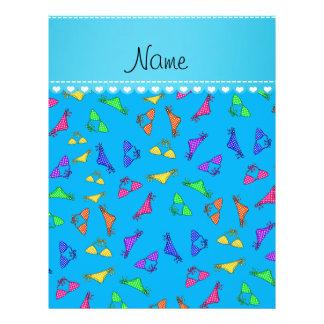 Personalized name sky blue rainbow bikinis 21.5 cm x 28 cm flyer