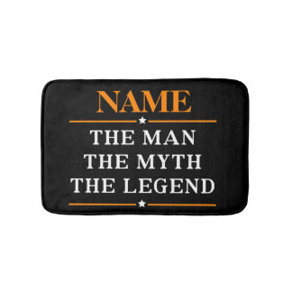 Personalized Name The Man The Myth The Legend Bath Mat