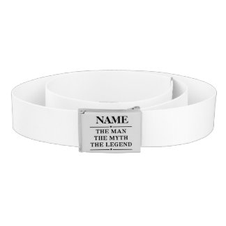 Personalized Name The Man The Myth The Legend Belt