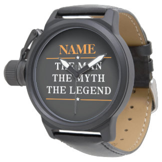 Personalized Name The Man The Myth The Legend Watch