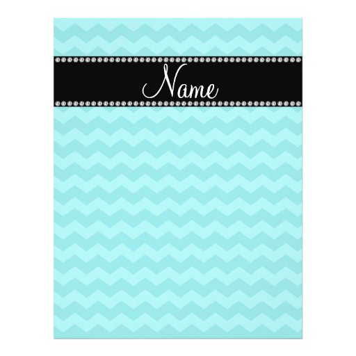 Personalized name turquoise chevrons full color flyer
