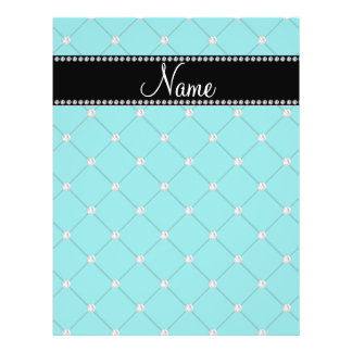 Personalized name Turquoise diamonds Custom Flyer
