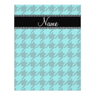 Personalized name turquoise houndstooth flyer
