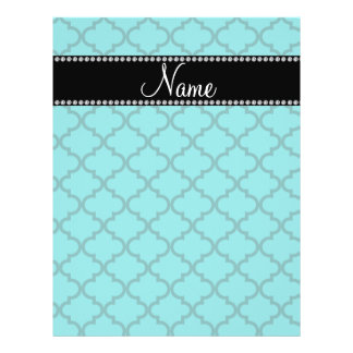 Personalized name Turquoise moroccan Custom Flyer