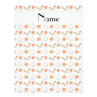 Personalized name white baseball custom flyer