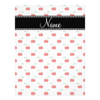 Personalized name white cherry pattern full color flyer