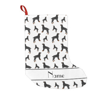Personalized name white field spaniel dogs small christmas stocking