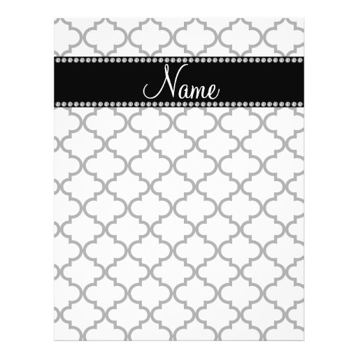 Personalized name White moroccan Full Color Flyer
