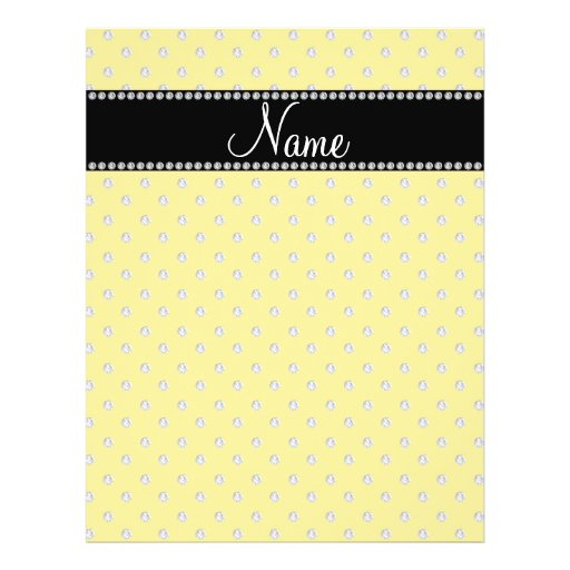 Personalized name yellow diamonds flyers