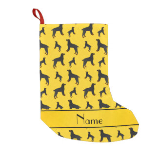 Personalized name yellow field spaniel dogs small christmas stocking