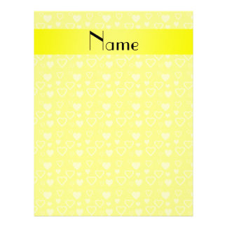 Personalized name yellow hearts personalized flyer