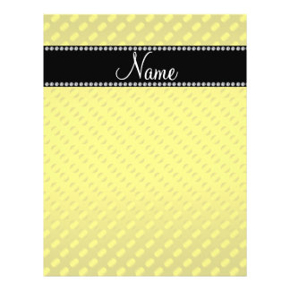 Personalized name yellow polka dots flyers
