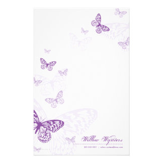 PERSONALIZED NOTEPAPER :: butterflies 3P Customized Stationery