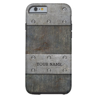 Personalized Old Metal Look Tough iPhone 6/6s Case