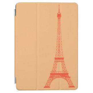 Personalized Orange Eiffel Tower iPad Air Cover