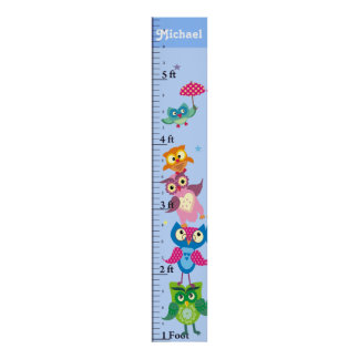 Personalized owls Growth Chart