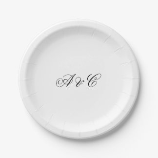 Personalized Party Paper Plates