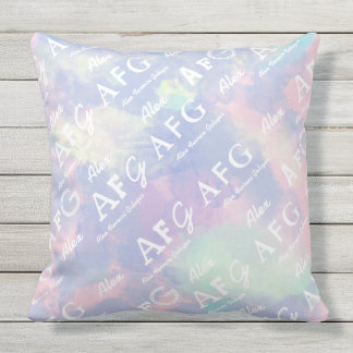 personalized pattern of name & initials outdoor cushion