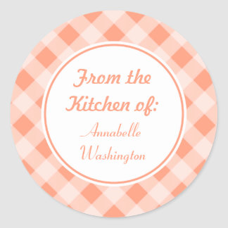 Personalized Peach Kitchen Stickers