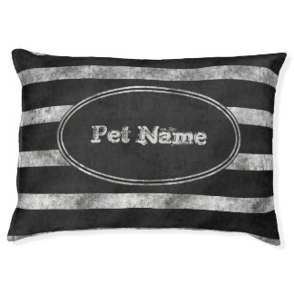 Personalized pet bed Dog bed Grunge dog bed