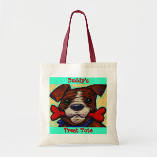 Personalized Pet's Name Dog Treat Bones Tote Bag