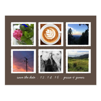 Personalized Photo Collage Save the Date Postcard