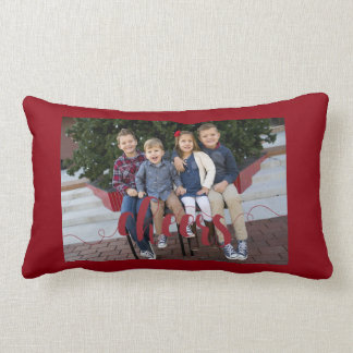 Personalized, Photo Holiday Throw Pillow