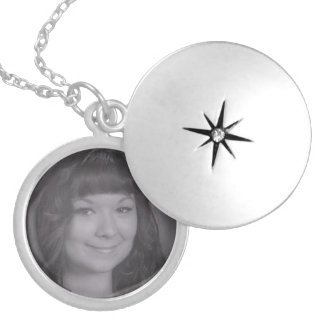 Personalized Photo Silver Plated Necklace