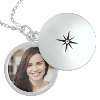 Personalized photo sterling silver necklace