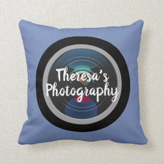 Personalized Photographer Camera Lens Decorative Cushion