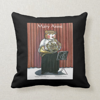 Personalized Pillow for Female French Horn Player Throw Cushion