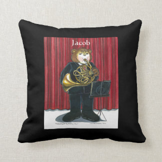 Personalized Pillow for Male French Horn Player Throw Cushions