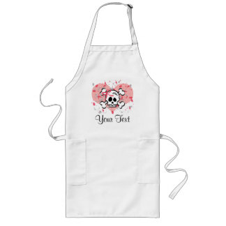 Personalized Pink Bow Skull Apron