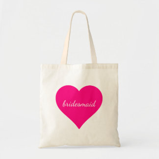 Personalized  Pink Heart Bridesmaid