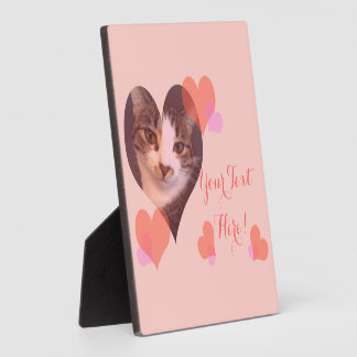 Personalized Pink Hearts Valentine Photo Plaque