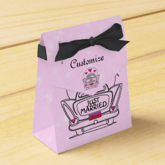 Unique Wedding Gifts Nz : Personalized Pink Just Married Honeymoon Car Box Wedding Favour Boxes