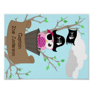 Personalized Pirate Nursery Design Poster