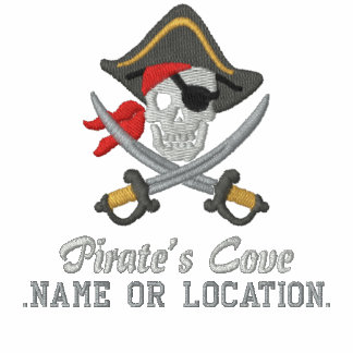 Personalized Pirate Party Embroidery Polo