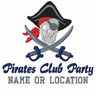 Personalized Pirate Party Embroidery Embroidered Shirt