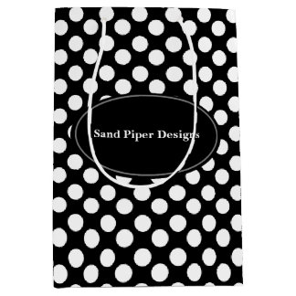 Personalized Polka Dot Client Marketing Gift Bag