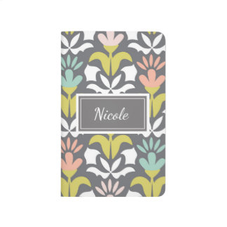 Personalized Pretty Patterned Journal Floral Print