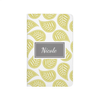 Personalized Pretty Patterned Journal Leaves