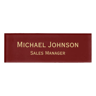 Personalized Professional Elegant Faux Gold Maroon