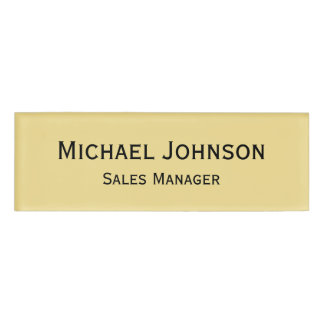 Personalized Professional Rich Faux Gold Magnetic
